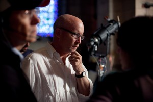 "Alex Gibney on set for ""Mea Maxima Culpa: Silence in the House of God."""