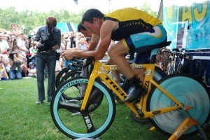 Lance Armstrong at the Tour de France in 2009.